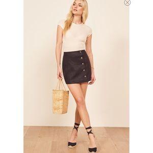 REFORMATION Candella Button Linen Mini Skirt 2
